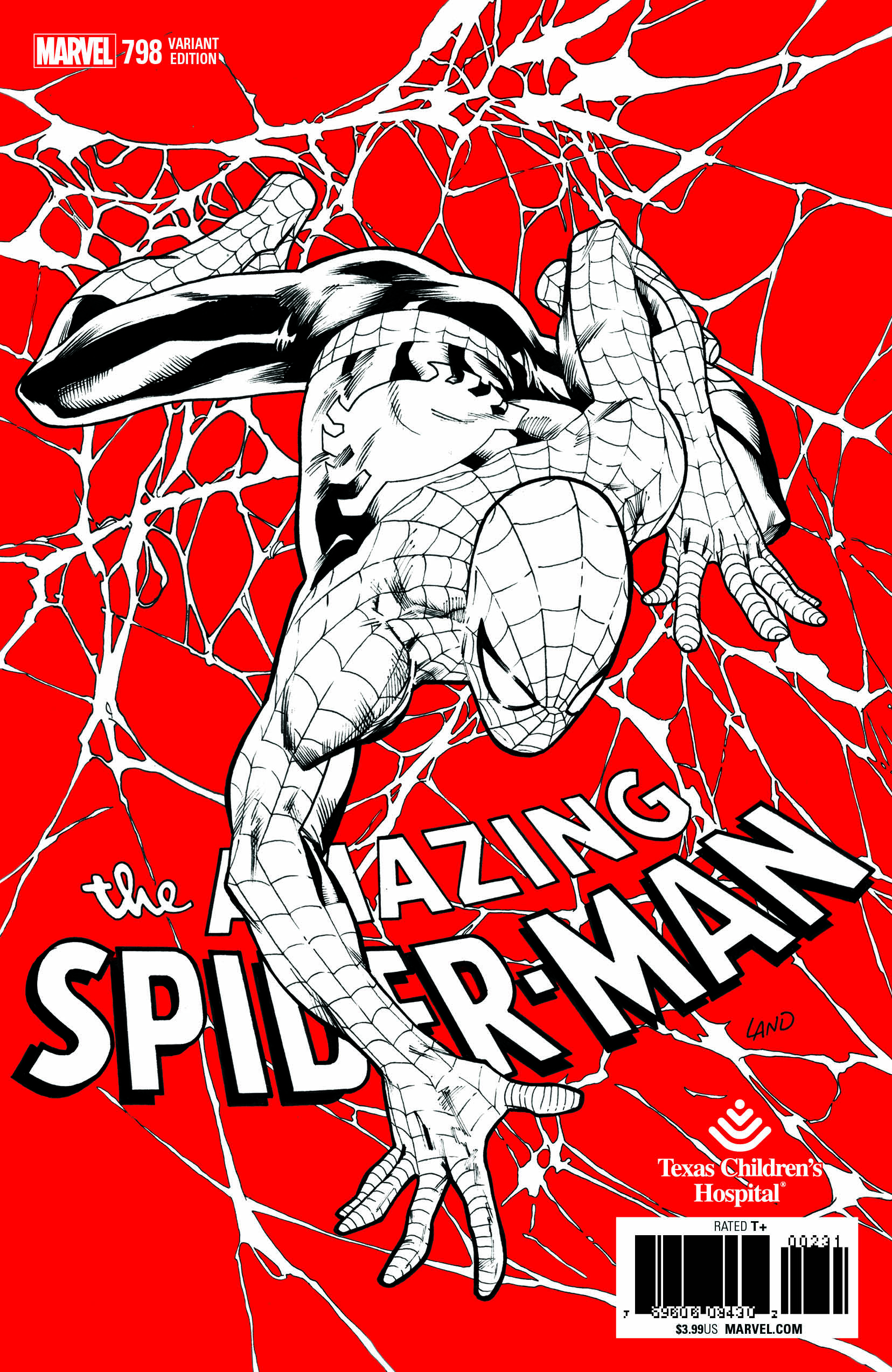 AMAZING SPIDER-MAN #798 GREG LAND CHILDREN HOSPITAL VARIANT